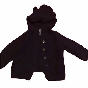 The Gap 12-18 month navy knitted button up teddy bear jacket